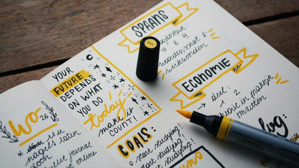 برای نوشتن اهداف خود را طبقهبندی کنید