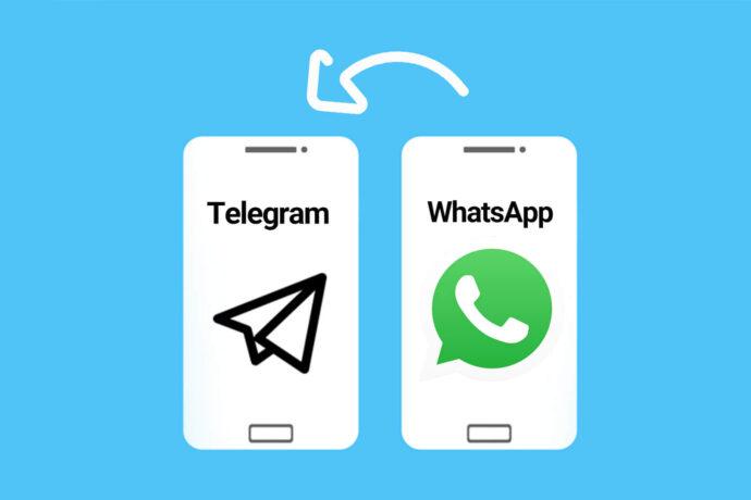 آموزش انتقال پیامها از واتساپ به تلگرام