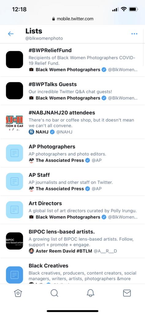 لیست توییتر عمومی داشته باشید