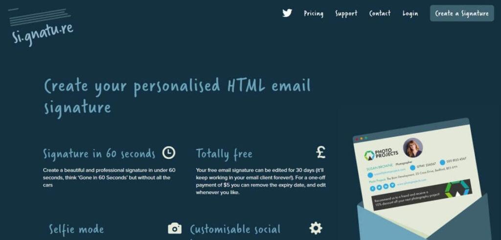 Si.gnatu.re برای ساخت امضا HTML نیز استفاده میشود.