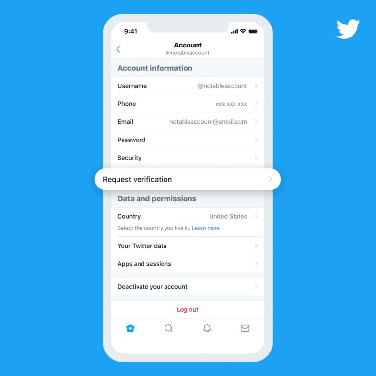 درخواست تیک آبی در توییتر