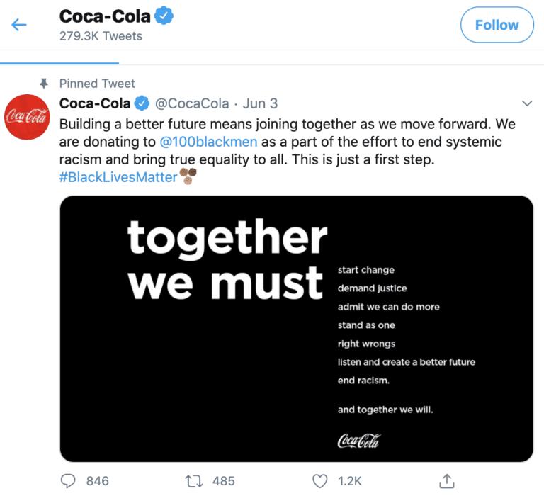توییت کوکاکولا در توییتر
