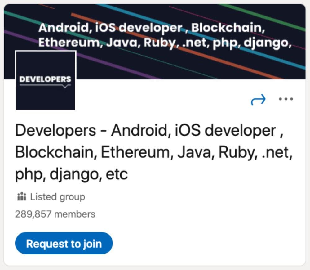 Developers – Android, iOS developer, Blockchain, Ethereum, Java, Ruby, net, php, django, etc
