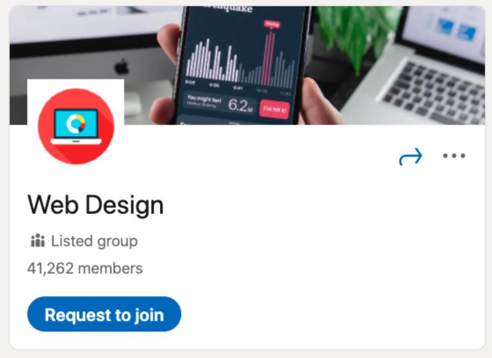 Web Design از لیست ۳۰ گروه لینکدین برای طراحان و توسعهدهندگان