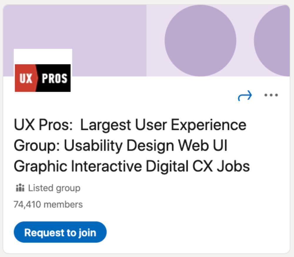 UX Pros از لیست ۳۰ گروه لینکدین برای طراحان و توسعهدهندگان