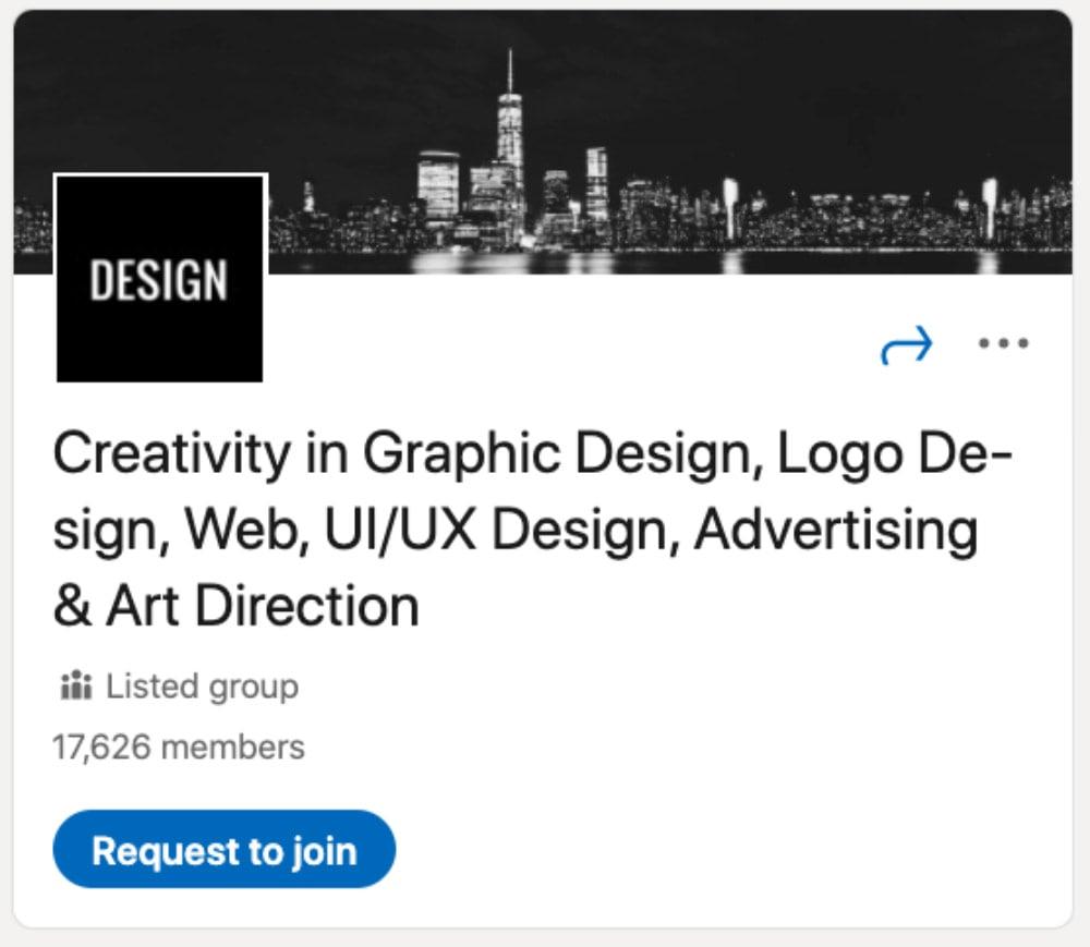 Creativity in Graphic Design, Logo Design, Web, UI/UX Design, Advertising & Art Direction از لیست ۳۰ گروه لینکدین برای طراحان و توسعهدهندگان