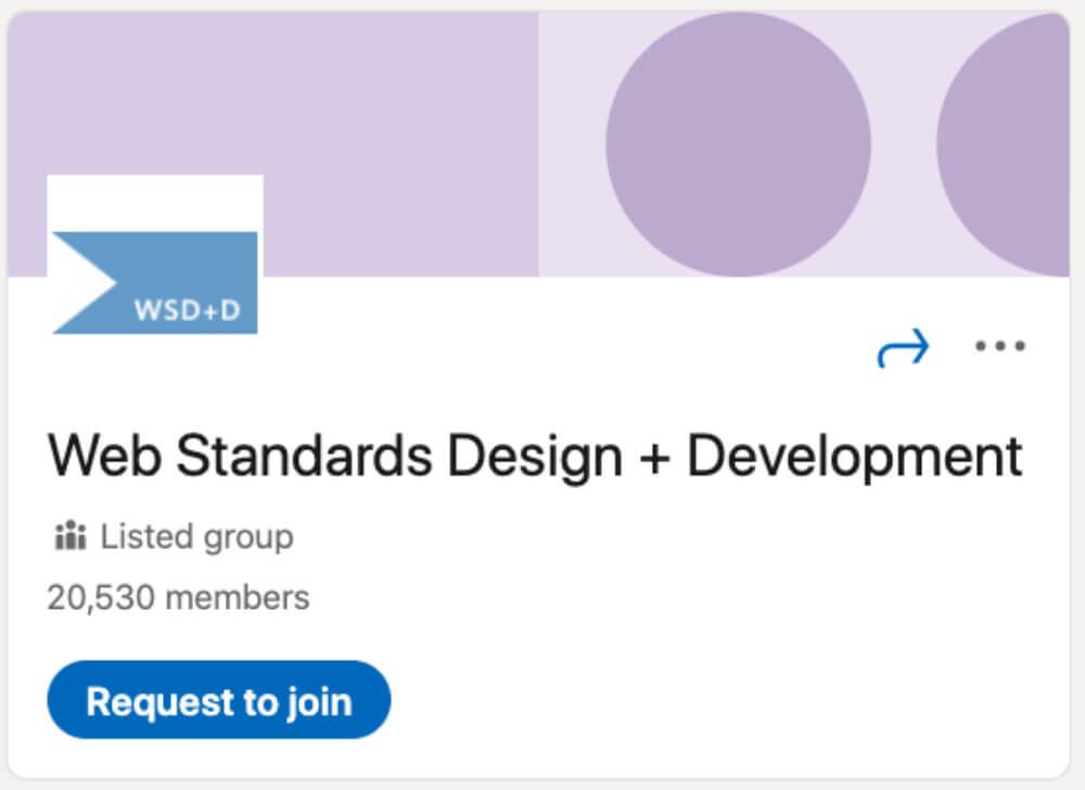 Web Standards Design + Development از لیست ۳۰ گروه لینکدین برای طراحان و توسعهدهندگان